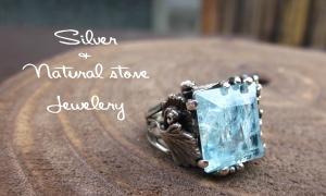 silver+nacuralstone jewelry